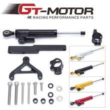 Gt motor-frete grátis para honda cb1000r 2008-2016 motocicleta alumínio steering estabilizador amortecedor suporte de montagem kit