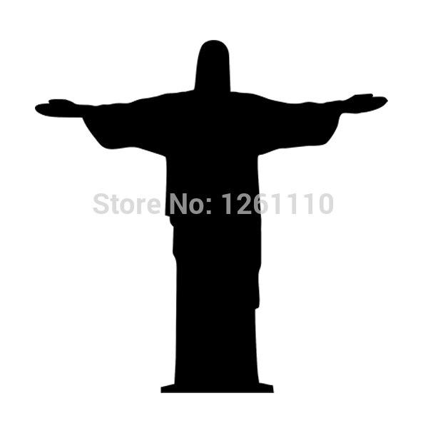 Hotmeini varejo estilo do carro adesivo de vinil decalque cristo redentor jesus estátua brasil para lada carros acessories decoração