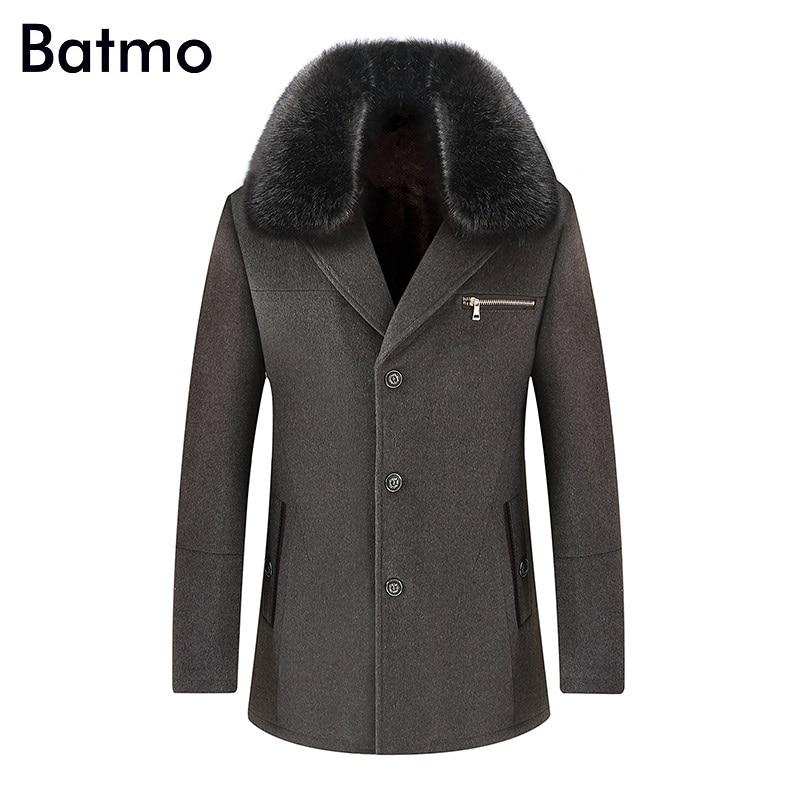 Batmo 2019 جديد وصول الشتاء جودة عالية الصوف سميكة عارضة خندق معطف الرجال ، الرجال الشتاء معطف دافئ ، جواكت شتوية الرجال ، 1519