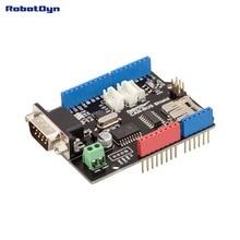 Bouclier CAN-BUS. Compatible pour Arduino. MCP2515 (CAN-contrôleur) et MCP2551 (CAN-émetteur-récepteur). GPS se connectent. Lecteur de carte MicroSD.