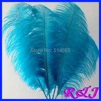 ems free shipping cheap ostrich feather 100pcs 20 22 inches 50 55cm turquoise blue light blue ostrich plumage ostrich plume