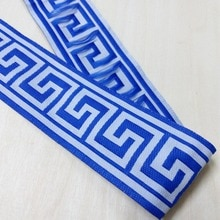 50mm 5cm 2 bleu literie grande muraille frontière Costume rideau dentelle dentelle nationale Jacquard ruban tissé broderie sangle garniture