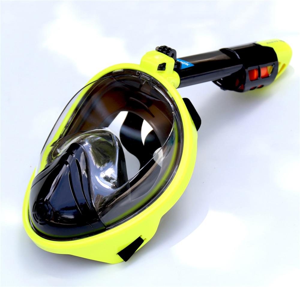 Full Face Diving Mask 180 degree Panoramic View Underwater Snorkeling Masks Anti-Fog Anti-Leak Swimming Scuba mask