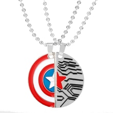 The Avenger US Captain Shield Sign Necklace For Women Lover Couple Pendant Choker Jewellery Necklace