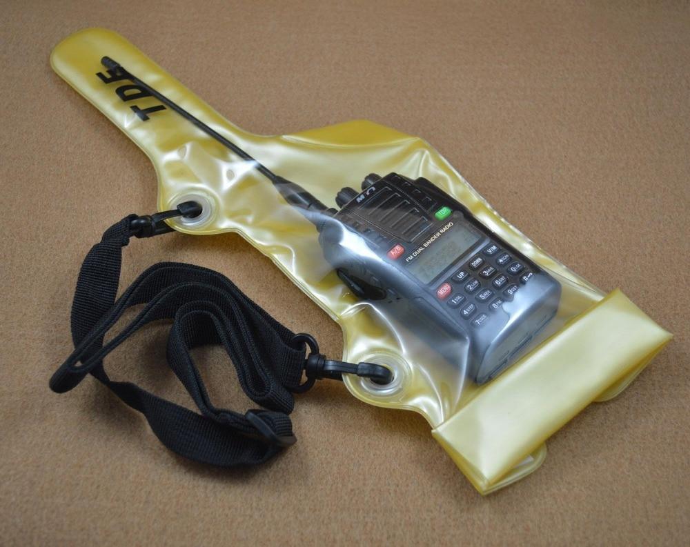 Walkie talkie funda impermeable bolsa con correa para Moto Kenwood Icom Yaesu baofeng Wouxun walkie-talkie puxing radio impermeable