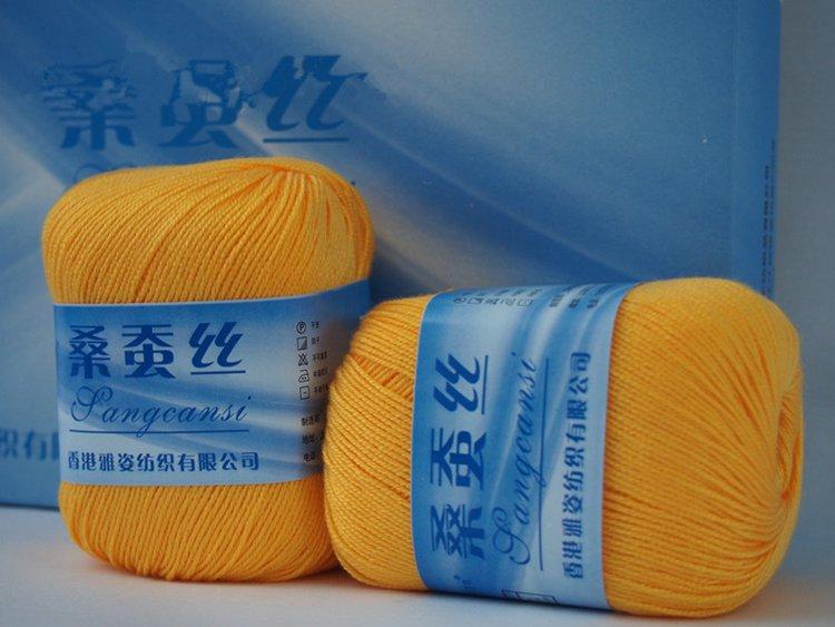 400g/lot  Mulberry Silk Thread Hand Knitting Yarn Crochet The Baby Yarn Wool Woven Bamboo Cotton Silk Line