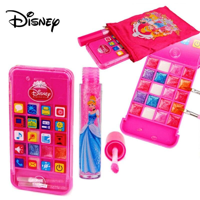 Disney princesa menina brilho labial 20 elegante crianças maquiagem fingir beleza brinquedos 2019 novos não-tóxico batom cosméticos compõem presentes