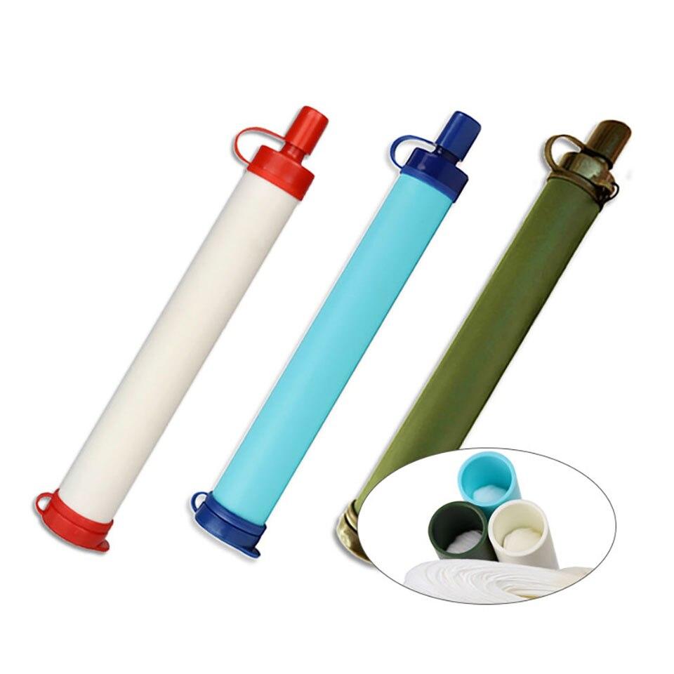 Mini purificador de agua portátil de 0,01 micrones, para exteriores, para supervivencia, senderismo, emergencia, suministros de Camping, emergencia