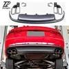 S5 סגנון PP + נירוסטה אחורי שפתיים פגוש מפזר ערכת רכב Exhauts צעיף צינור טיפים עבור אאודי A5 אביזרי 2012-2015 2/4-דלת