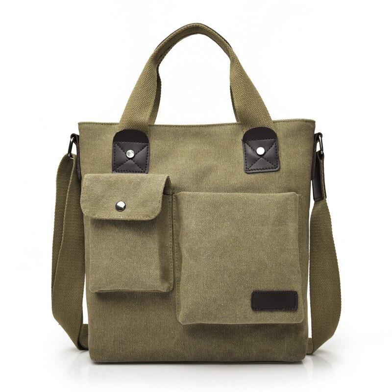 Мужская сумка-мессенджер YUTUO, винтажная многофункциональная Холщовая Сумка через плечо для путешествий