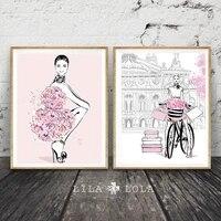 Cuadros     affiches et imprimes de filles sur toile  peinture murale a la mode  images Pop Art pour decoration de salon  maison