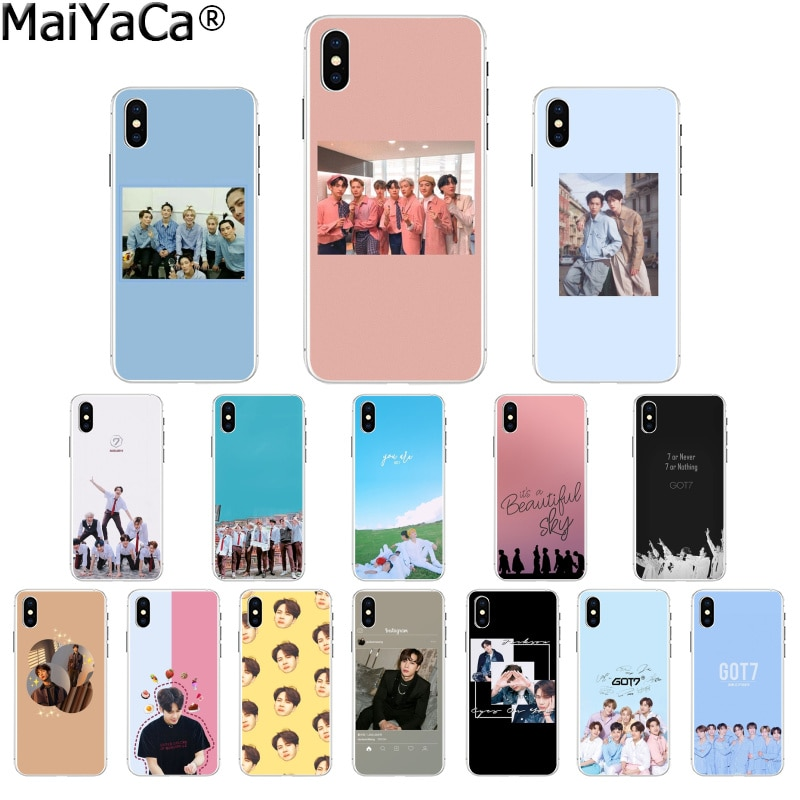 MaiYaCa GOT7 JB Mark Jackson BAMBAM TPU Soft Silicone Transparent Phone Case for Apple iPhone 8 7 6 6S Plus X XS MAX 5 5S SE XR