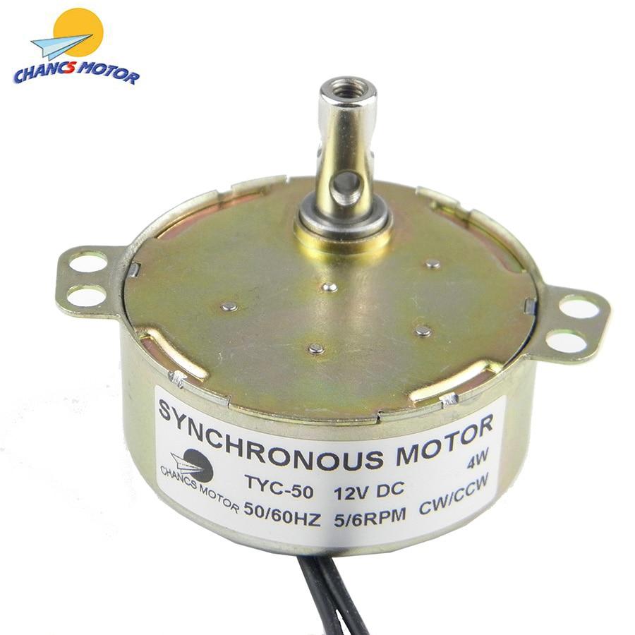 Chancs TYC-50同期モータ12 12v dc 5-6回転永久磁石cw/ccw低速電動ギアシンクロモーター