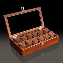 New Wood Watch Display Box Organizer Black Top Watch Wooden Case Fashion Watch Storage Packing Gift