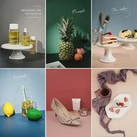 hot morandi solid color double sided photography board backdrop paper studio photo tabletop shooting background adornment props