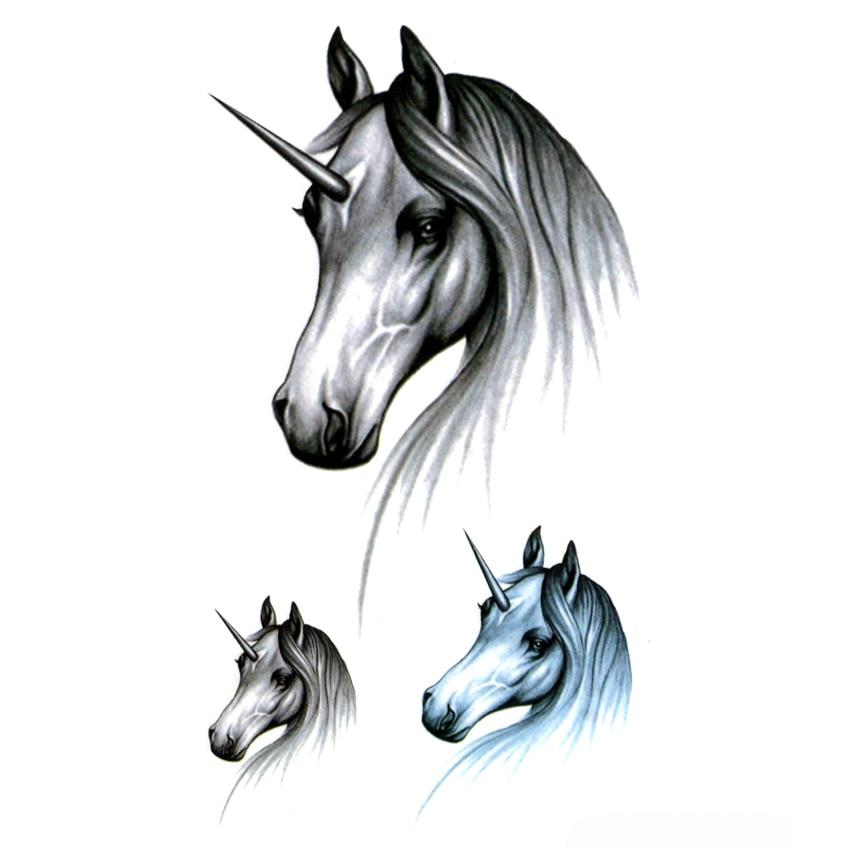 Unicorn Waterproof Temporary Tattoos Men Maquiagem Beauty Horse Temporary tatoo Sticker Tatouage temporaire adesivos