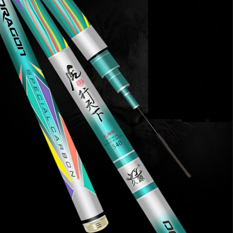 4.5m-10m Taiwan Fishing Rod Pole 12H Super-hard Ultra-light Hand Pole Olta 19 Tuning Sturgeon Fishing Canne Pesca Fishing Tackle enlarge