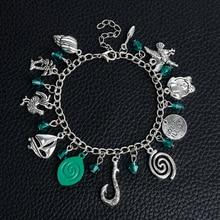 "MQCHUN Moana Charm Bracelets Moana Inspired Handmade Letter ""HOW FAR ILL GO"" Maui Fish Hook Beads Bracelets & Bangles"