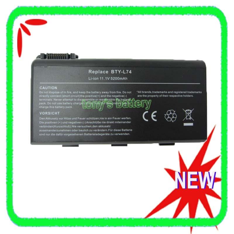 5200 mAh BTY-L75 batería para MSI A5000 A6000 A6200 A6203 A6205 A6300 A7005 A7200 GE700 MS-1682 957-173XXP-101