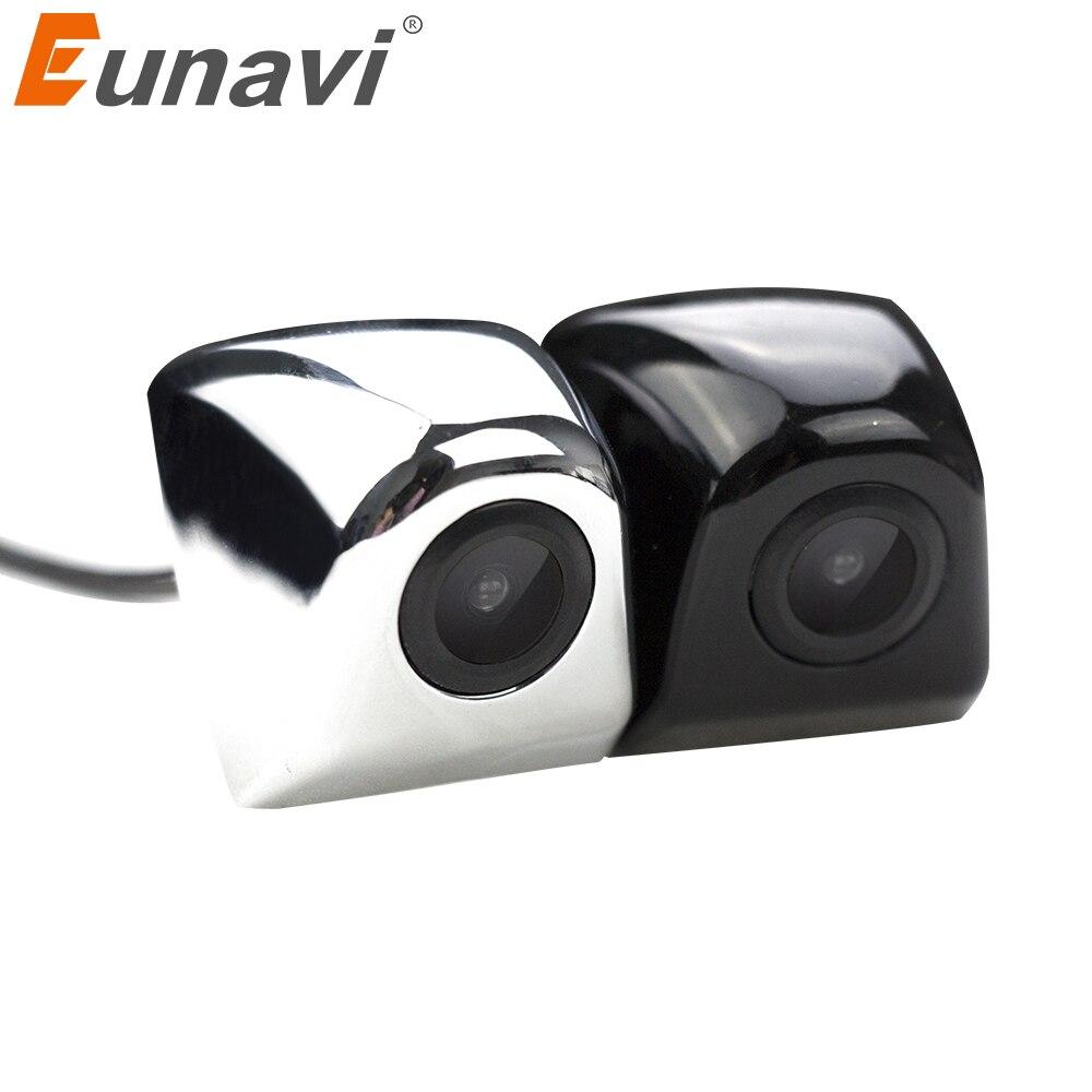 Eunavi Lente de Cristal de 4 capas visión nocturna coche reversa cámara de visión trasera CCD para coche HD para coche DVD Monitor de aparcamiento