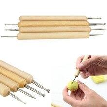 Mükemmel 4 paket Topu Stylus Polimer Kil Çömlekçilik Seramik Heykel Modelleme El Yapımı alet takımı A