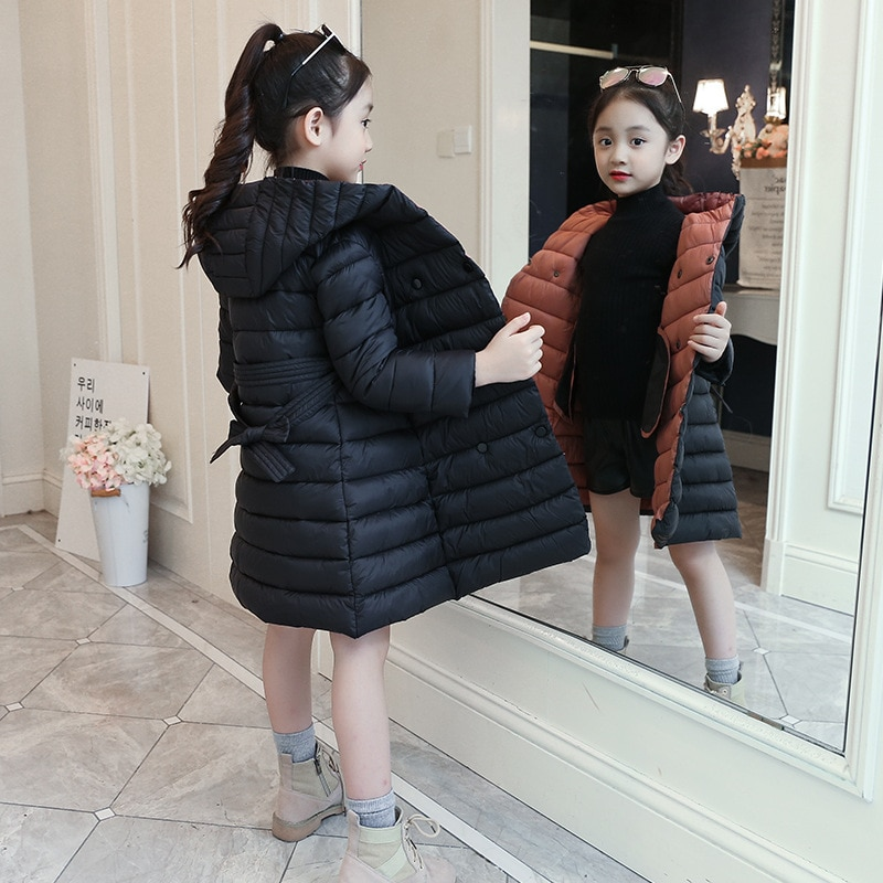 2020 inverno outono meninas roupas de manga longa meninas jaqueta crianças outerwear quente com capuz roupas para meninas casaco