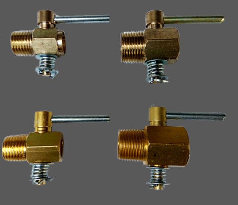 Interruptor de descarga de cobre R175S195 Changchai L28 Válvula de tanque de agua de aluminio 1/43/8 para motor Diesel refrigerado por agua de un solo cilindro