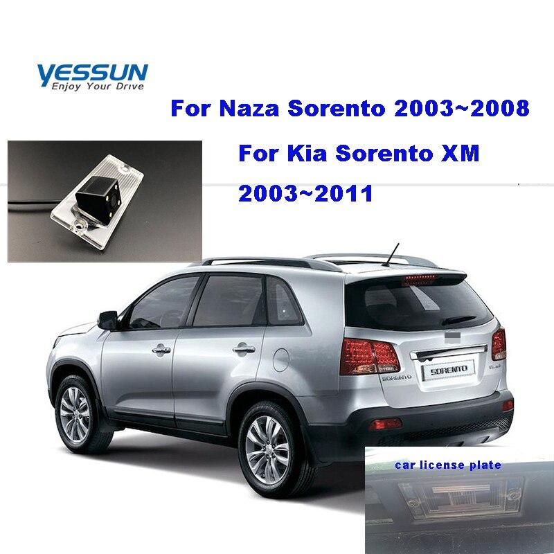 Yessun, vista trasera de coche, cámara para Kia Sorento II/Sorento R/Sorento XM 2008 ~ 2011 2013 2014, cámara de marcha atrás de respaldo para matrícula