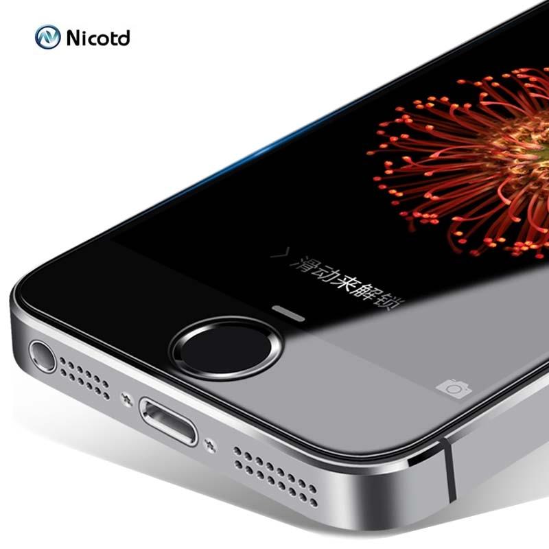 Прозрачное закаленное стекло Nicotd 2.5D для iPhone 5 5s 5c SE, Взрывозащищенная закаленная Защитная пленка для экрана телефона