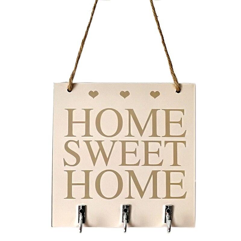 "Nova casa titular armazenamento cabide prateleira de armazenamento ganchos pendurados ""casa doce casa"" prateleiras chapéu chave suportes fixado na parede rack"