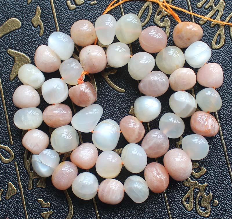 Piedra Lunar Natural + cuentas de Irregular suelto Sunstone 8-12mm 15 pulgadas, venta al por mayor para joyería DIY ¡envío gratis!