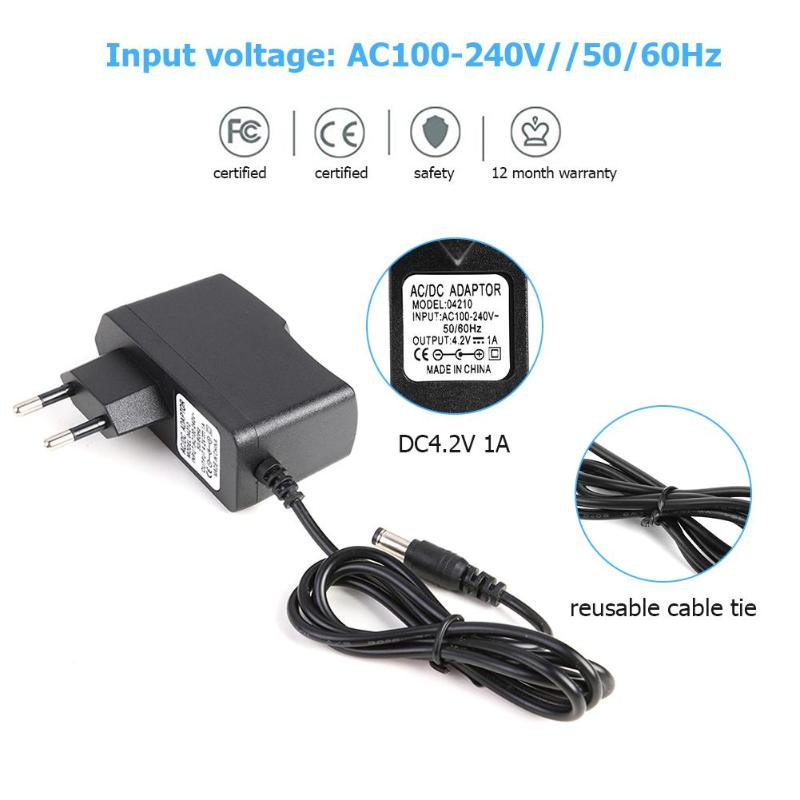 DC5.5x2.1mm Plug 4.2V 1A 18650 Lithium Battery Charger DC5.5mm Plug Power Adapter Charger 18490 14650 14514430 Batteries Charger