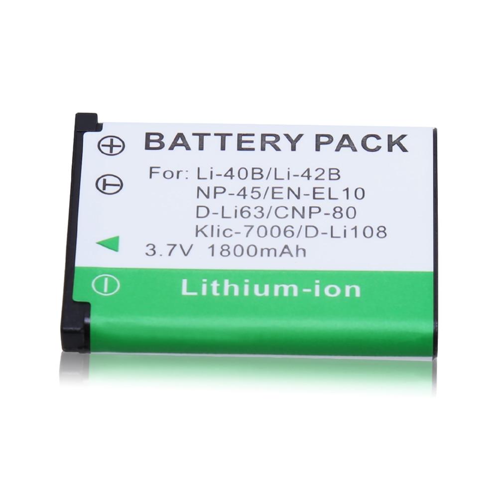 1 шт. высокое качество LI-42B Li-40B LI42B Li 42B 40B батарея камеры для OLYMPUS U700 U710 FE230 FE340 FE290 FE360
