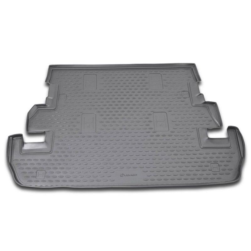 Alfombrilla de arranque de maletero trasero para Toyota Land Cruiser Prado J120 2003-2009 bandeja de revestimiento alfombra de suelo 2004 2005, 2006, 2007, 2008