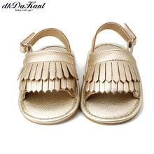 DkDaKanl-chaussures dété pour bébé fille   Chaussures à semelles souples et franges, FF247R, nouvelle collection