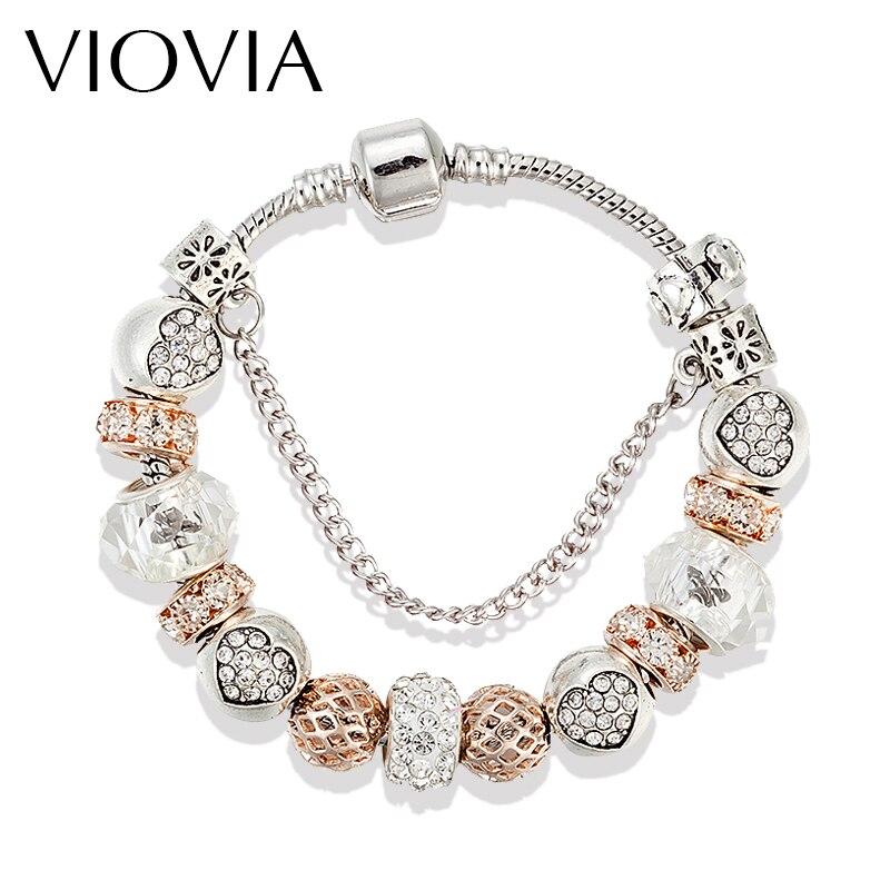 VIOVIA 2019, envío directo, accesorios de joyería, abalorio de pulsera con cuentas redondas DIY, joyería hermosa, variedad de regalo para mujeres B15175