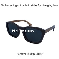 square butterfly vintage black bamboo sunglasses