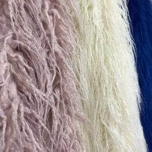 10 cm longo da pele Do Falso lã Praia de pelúcia velo tecido de pele de raposa