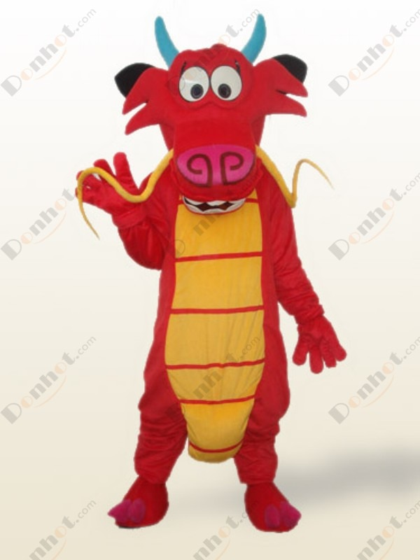 Disfraz de personaje de Mascota, disfraz de dragón Mushu, disfraz de dragón de Mascota, juego de rol