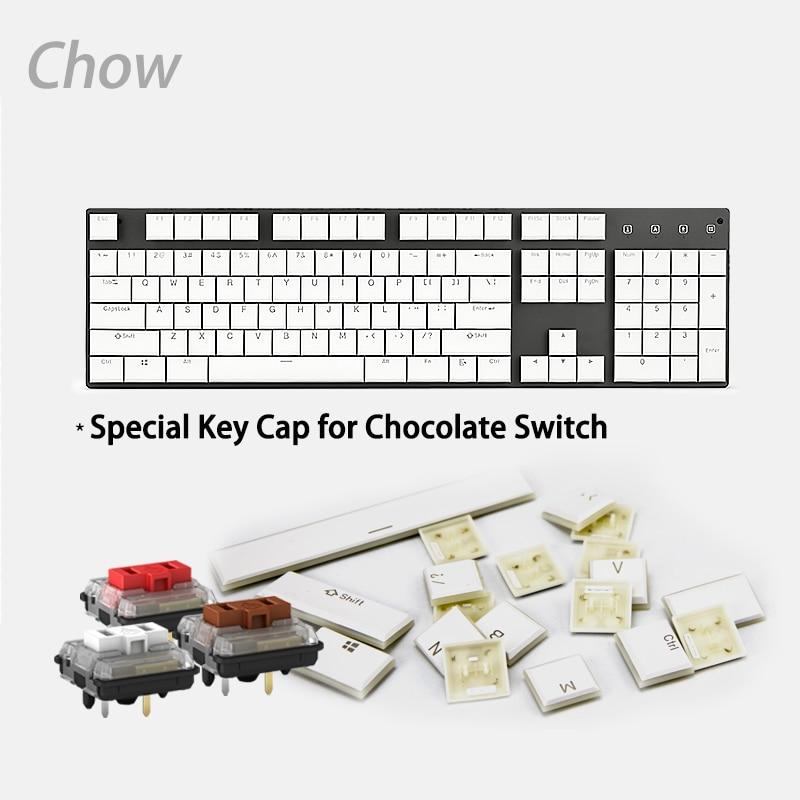 Echofox-مفاتيح kailh choc 104 ، 1350 مفتاح ميكانيكي ، أبيض ، شوكولاتة ، للألعاب