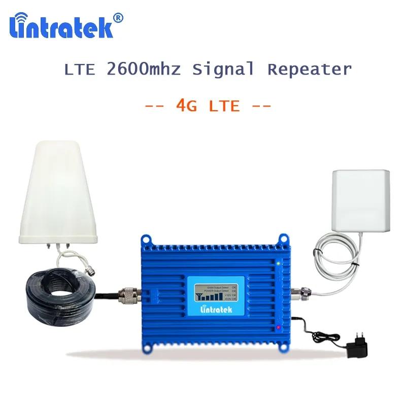 Lintratek – amplificateur de signal réseau gsm 4g, répéteur 2600 mhz avec antenne S33, AGC Band 7, 2600