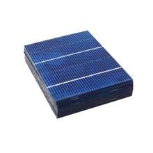 50 pçs/lote 78*52mm 0.66 w painel solar mini sistema solar diy bateria carregador de telefone portátil solar célula sunpower painel carga