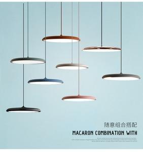 Modern led Hanging Pendant Lights 8 Colors DIY Art Lighting dining room corridor Bar Cafe Pendant Lamp Fixtures Home Decoration