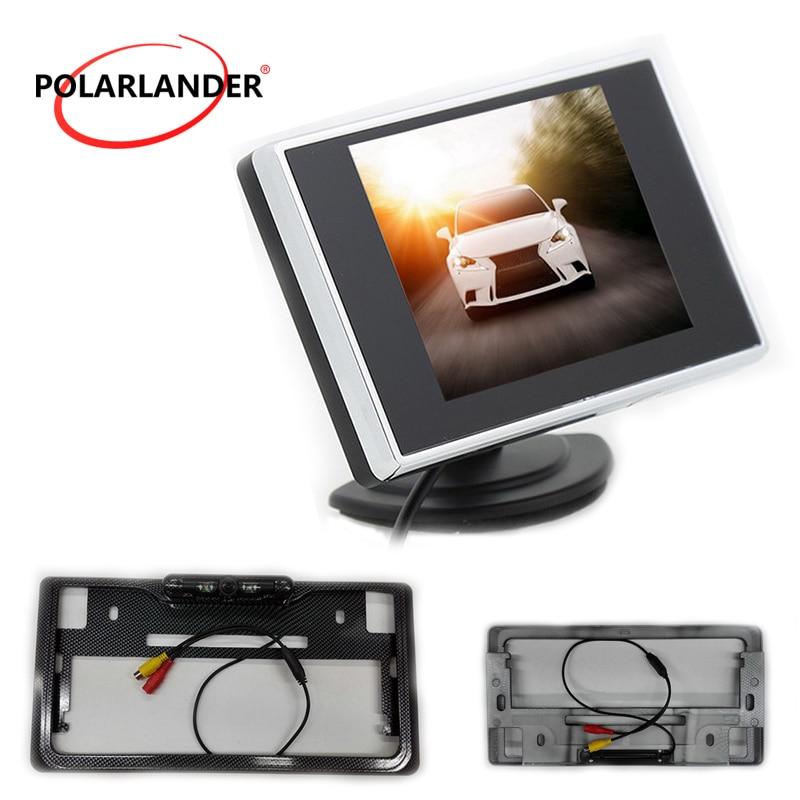Rear view camera monitor 3.5 inch TFT LCD  Auto TV Car  Assist Backup Reverse Monitor  Japanese lisence platee led  Car Monitor