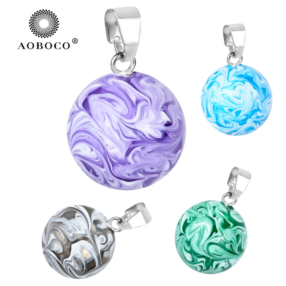 AOBOCO, Bola de Bola mexicana, 20mm, colorido, carillón, Bola de Ángel que llama, colgante de embarazo para mujeres, joyería de moda