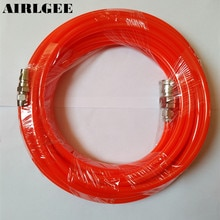 8mm x 5mm Polyurethane PU Air Compressor Hose Tube Orange Red 10M 32.8Ft Free shipping