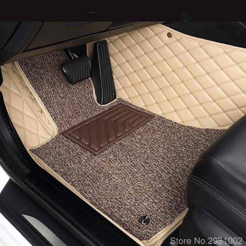 3D Car Floor Mat For Toyota Camry 70 50 55 40 30, 2006-2019 Leather Car Floor Mats Waterproof Automobiles Interior Accessories