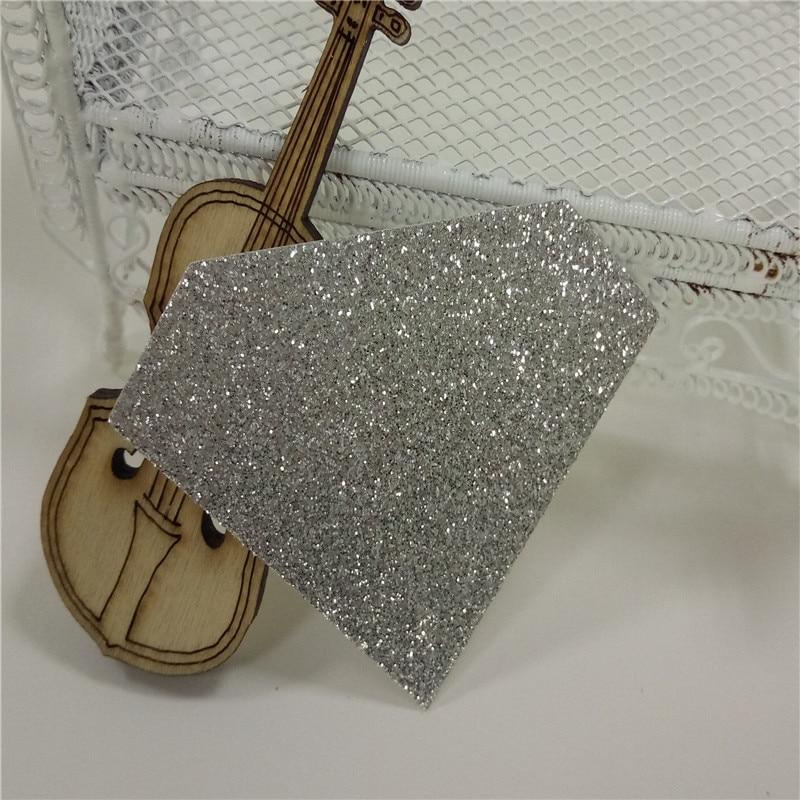 Dado de diamante alto de 1000 pulgadas de 1,7 piezas de papel plateado brillante para manualidades con papel, banner, tapa de pastel y decoración de pancarta de boda