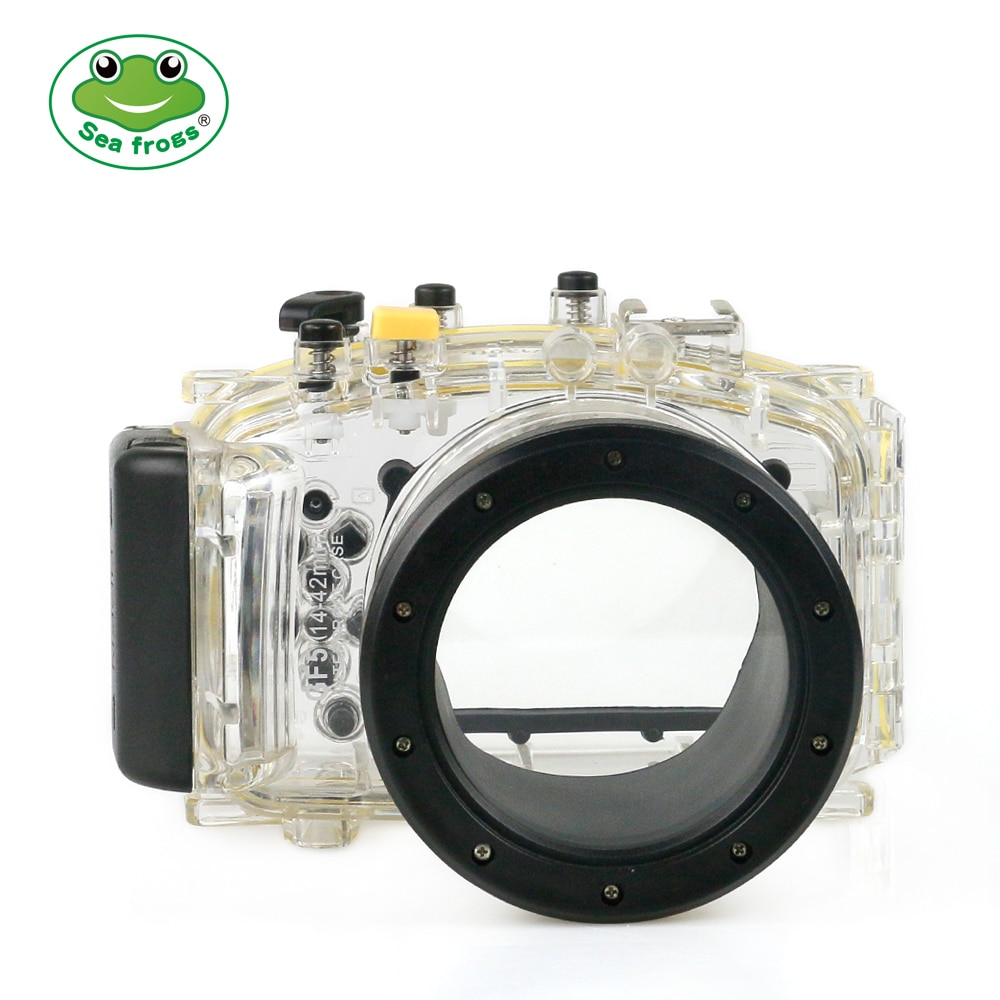 meikon wp dc44 waterproof underwater housing case 40m 130ftfor canon g1x camera 18mm lens with hand strap with o ring For Panasonic GF5 14-42mm Camera Waterproof Housing Case Underwater 40m Impervious Camera Protective Cover Scuba Diving Device