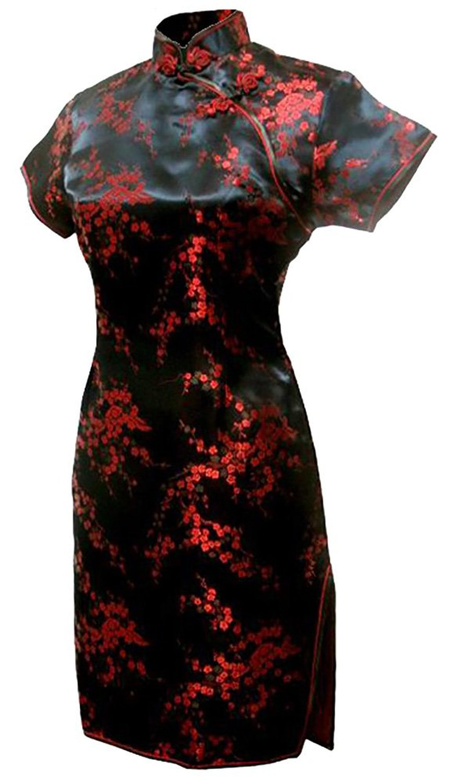 Черное Платье С Красными Драконами